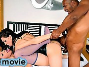 Well hung ebony stud having fun with two gorgeous tgirls
